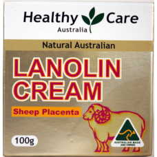 Healthy Care Australia, Natural Lanolin Cream, Sheep Placenta - 100g, Made in Australia