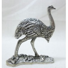 Australian Made Pewter Emu 40 mm High