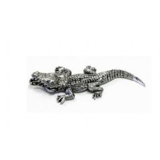Australian Made Pewter Crocodile 10 mm High