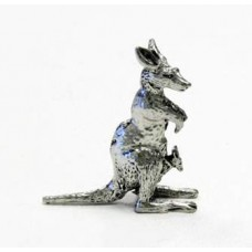 Australian Made Pewter Kangaroo 35 mm High