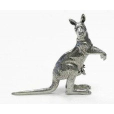 Australian Made Pewter Kangaroo 45 mm High